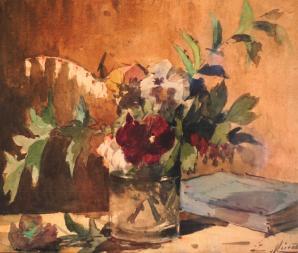 Bouquet au livre