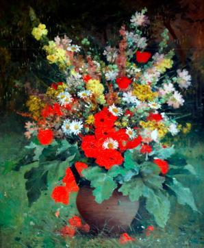 Bouquet aux coquelicots