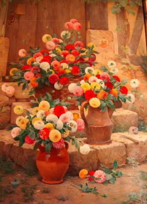Escalier de fleurs